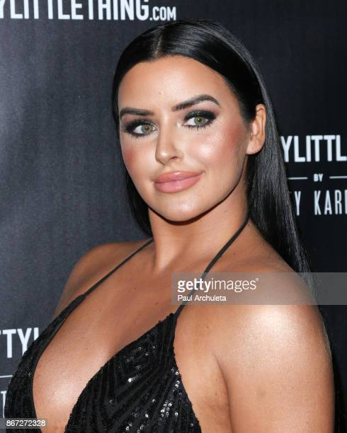 Model Abigail Ratchford attends the PrettyLittleThing by Kourtney Kardashian launch party on October 25 2017 in Los Angeles California