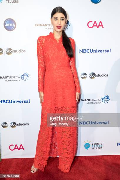 Model Abla Sofy attends The Junior Hollywood Radio Television Society's 15th Annual Holiday Party at Le Jardin on December 6 2017 in Hollywood...