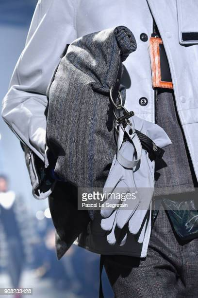 A model accessories detail walks the runway during the Lanvin Menswear Fall/Winter 20182019 show as part of Paris Fashion Week on January 21 2018 in...