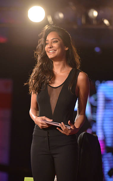 Model actor Lisa Haydon at the India Today Conclave 2015.