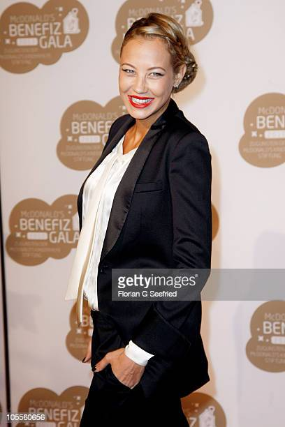 Model actress Alessandra Pocher attends the 7th McDonald's Charity Gala at the Station on October 16 2010 in Berlin Germany