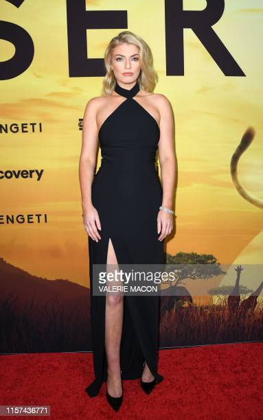 Model actress and performer Lola Lennox attends the Los Angeles Special Screening of Discovery's series Serengeti in Beverly Hills California on July...