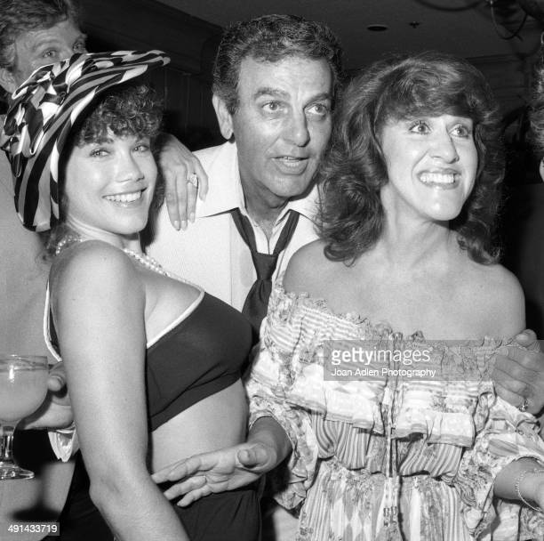 Model actress and singer Barbi Benton with actor Mike Conners and comedienne and actress Ruth Buzzi at the Rowan Martin's Laugh In cast reunion in...