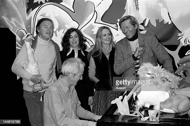 Model Actress and Singer Twiggy with the cast of Captain Beaky's Xmas photographed on 14th December 1981