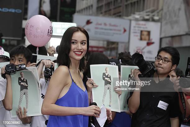 Model actress and TV hostess Mandy Lieu attends the opening of the new Topshop store on June 6 2013 in Hong Kong Hong Kong