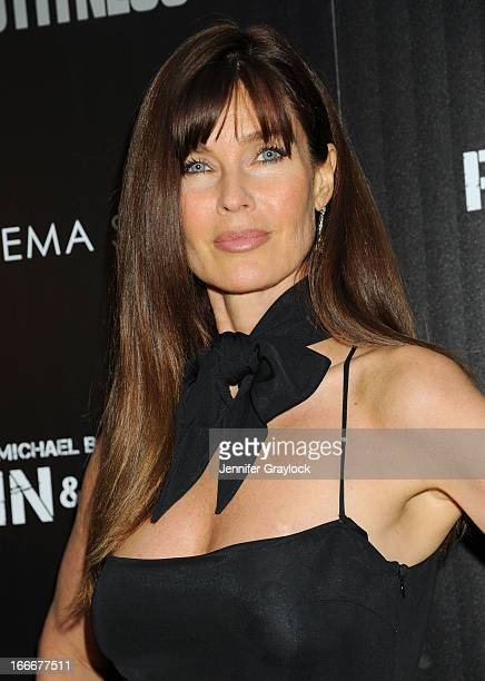 Model Actress Carol Alt attends The Cinema Society and Men's Fitness host a screening of Pain and Gain held at Crosby Street Hotel on April 15 2013...