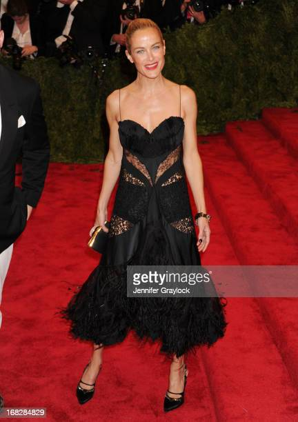 Model Actress Carolyn Murphy attends the Costume Institute Gala for the 'PUNK Chaos to Couture' exhibition at the Metropolitan Museum of Art on May 6...