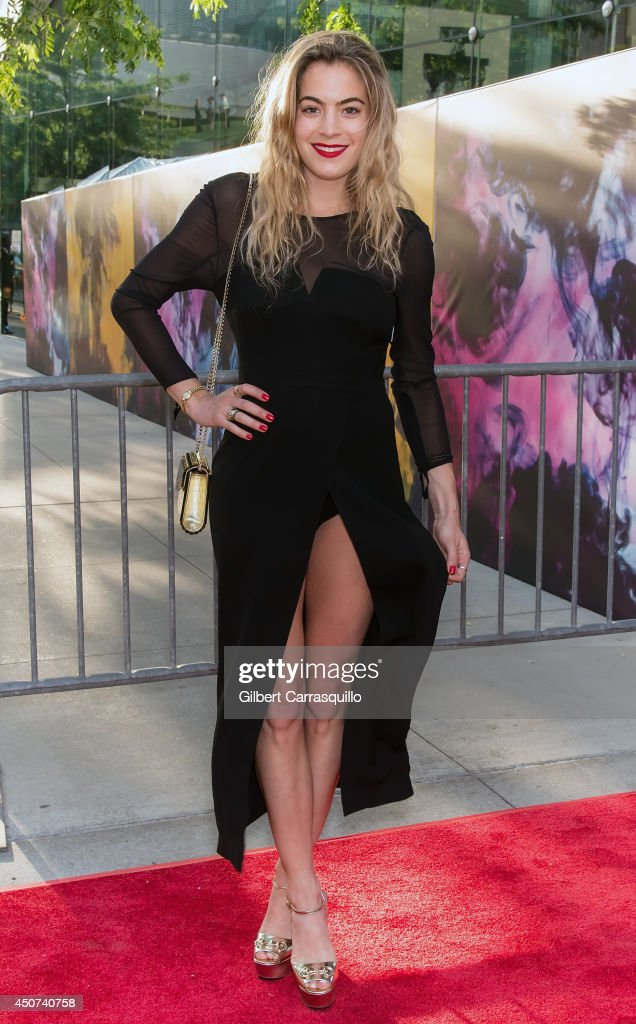 DJ, model, actress Chelsea Leyland arrives to the 2014 Fragrance Foundation awards at Alice Tully Hall, Lincoln Cente on June 16, 2014 in New York City.