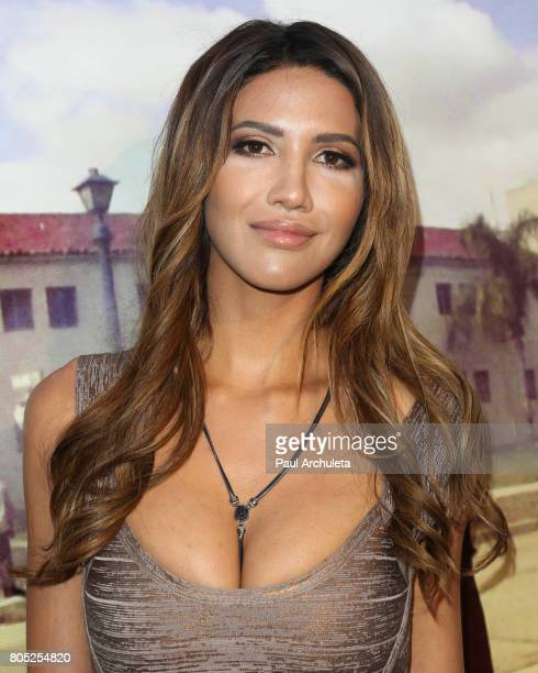 Model / Actress CJ Franco attends the Academy Of United States Veterans world premiere of Not A War Story at Samuel Goldwyn Theater on June 30 2017...