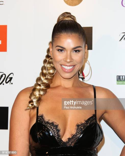 Model / Actress Gwendolyn OsborneSmith attends Kenny The Jet Smith's annual AllStar bash presented By JBL at Paramount Studios on February 16 2018 in...