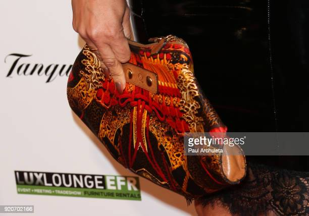 Model / Actress Gwendolyn OsborneSmith Jewelry Detail attends Kenny 'The Jet' Smith's annual AllStar bash presented By JBL at Paramount Studios on...