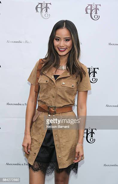 Model actress Jamie Chung at Abercrombie Fitch Summer Rooftop Party at Gallow Green Rooftop on July 28 2016 in New York City