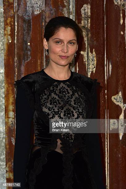 Model / actress Laetitia Casta attends the Givenchy show during Spring 2016 New York Fashion Week at Pier 26 on September 11 2015 in New York City