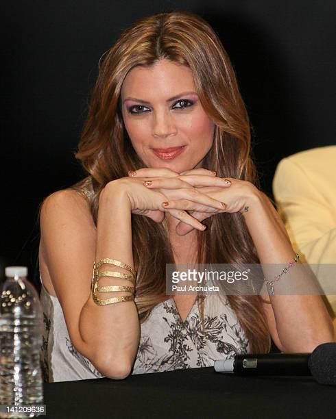 "Model / Actress Lianna Grethel attends the Estrella TV's Hit dance series ""Mi Sueno Es Bailar"" season 3 press conference at Liberman Broadcasting on..."