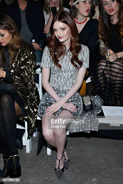 Model/ actress Lydia Hearst attends the Christian Siriano fashion show during MercedesBenz Fashion Week Fall 2014 at Eyebeam on February 8 2014 in...