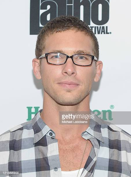 Model Adam Senn attends a conversation with Andy Garcia during the 12th annual NY International Latino film festival at DGA Theater on August 18 2011...