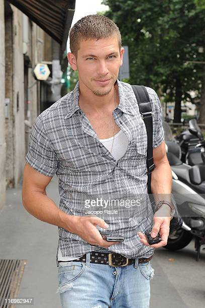 Model Adam Senn attends Dolce Gabbana fashion show as a part of Milan Fashion Week Spring/Summer 2012 on June 18 2011 in Milan Italy