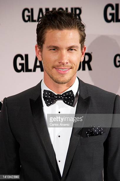 Model Adam Senn attends Glamour beauty awards 2012 at Pacha Club on March 14 2012 in Madrid Spain