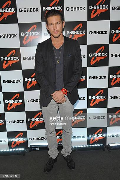 Model Adam Senn attends GShock Shock The World 2013 at Basketball City on August 7 2013 in New York City