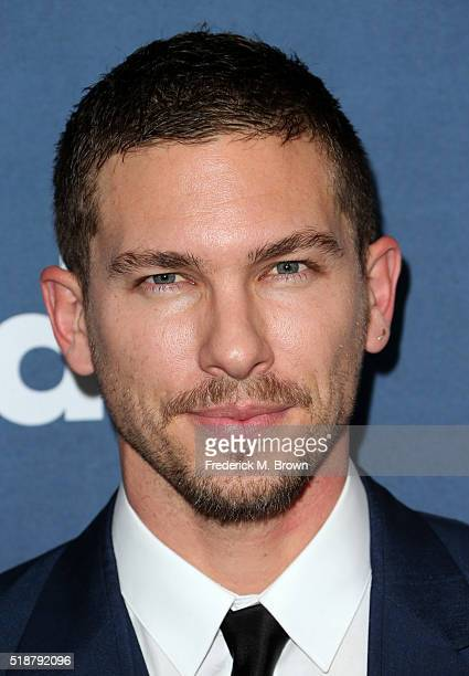 Model Adam Senn attends the 27th Annual GLAAD Media Awards at the Beverly Hilton Hotel on April 2 2016 in Beverly Hills California
