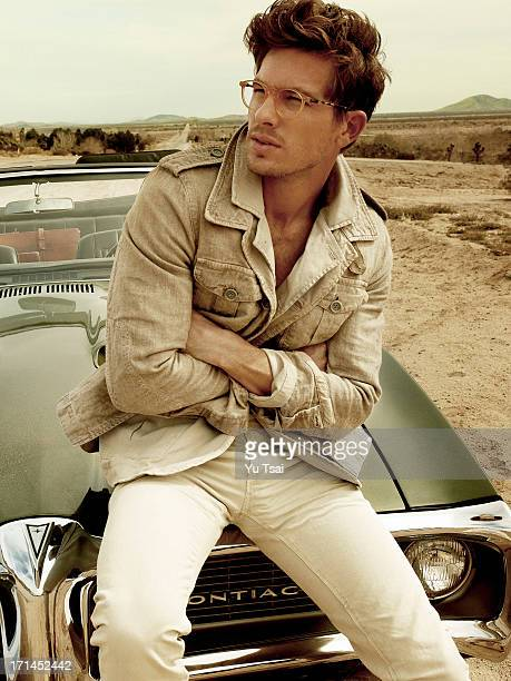 Model Adam Senn is photographed for a fashion editorial GQ Italy on March 5, 2012 in Los Angeles, California. PUBLISHED IMAGE.