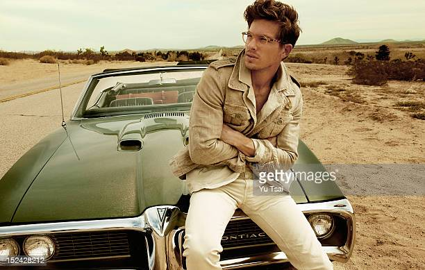 Model Adam Senn is photographed for a fashion story GQ Italy on March 5 2012 in Los Angeles California PUBLISHED IMAGE