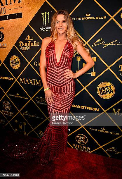 Model Adeline Mocke attends the 2016 MAXIM Hot 100 Party at the Hollywood Palladium on July 30 2016 in Los Angeles California
