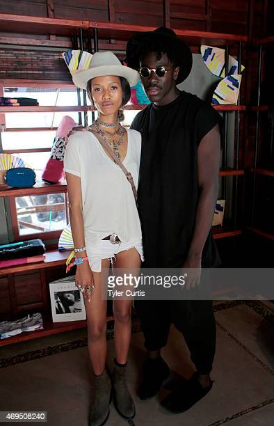 Model Adesuwa Aighewi and musician Moses Sumney attend The Retreat At The Sparrows Lodge on April 12 2015 in Palm Springs California