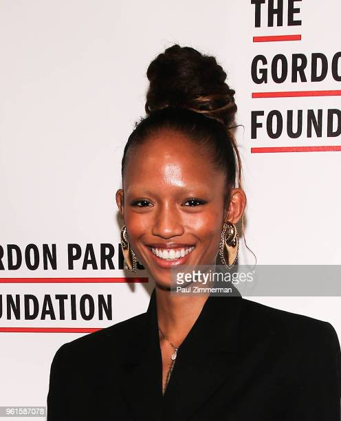 Model Adesuwa Aighewi attends the 2018 Gordon Parks Foundation Gala at Cipriani 42nd Street on May 22 2018 in New York City