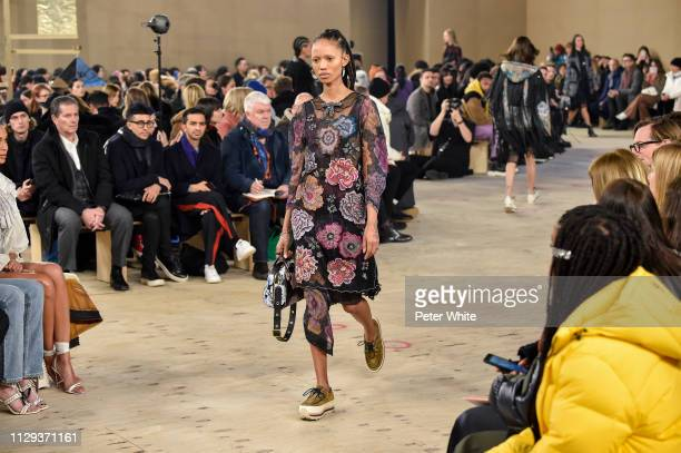 Model Adesuwa Aighewi walks the runway at the Coach fashion show during New York Fashion Week on February 12 2019 in New York City