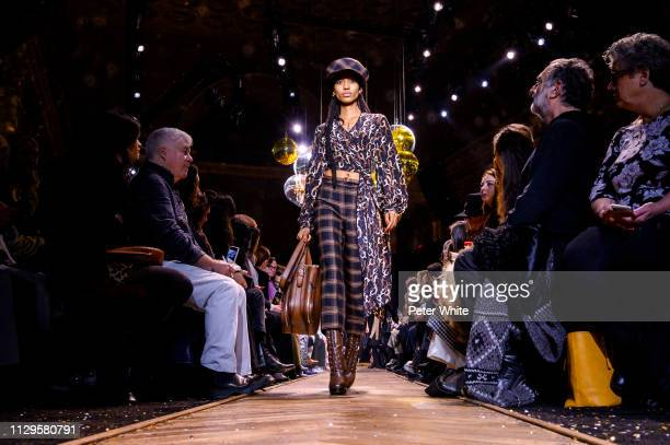 Model Adesuwa Aighewi walks the runway at the Michael Kors fashion show during New York Fashion Week on February 13 2019 in New York City