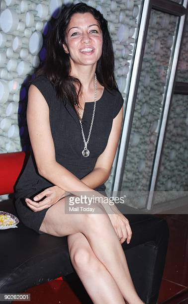 Model Aditi Govitrikar at the special screening of the film Three in Mumbai on Monday August 31 2009