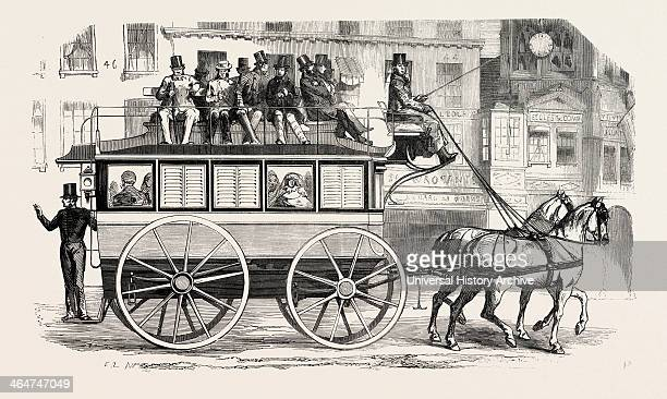 Model Adopted By The New Bus Company From The City Of London Exterior Elevation 1855 UK Engraving