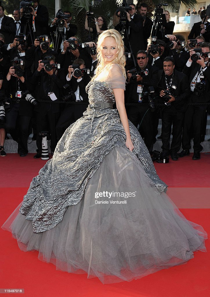 Model Adriana Karembeu attends the premiere of 'Biutiful' held at the Palais des Festivals during the 63rd Annual International Cannes Film Festival on May 17, 2010 in Cannes, France.