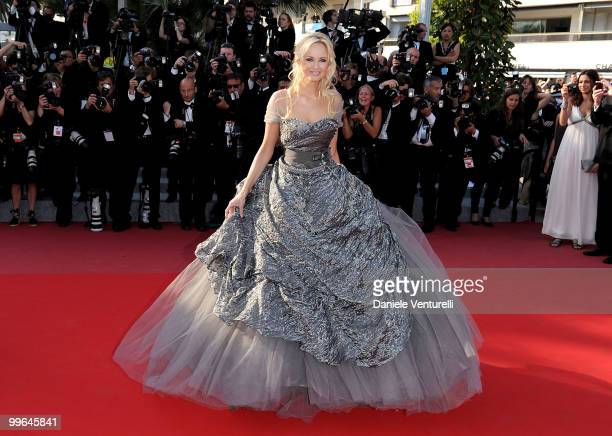 Model Adriana Karembeu attends the premiere of 'Biutiful' held at the Palais des Festivals during the 63rd Annual International Cannes Film Festival...