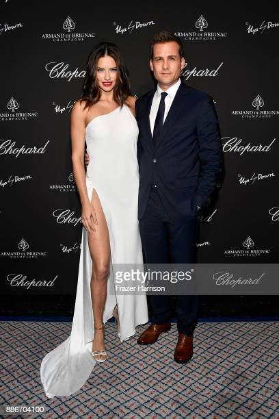 Model Adriana Lima and actor Gabriel Macht attend Creatures Of The Night LateNight Soiree Hosted By Chopard And Champagne Armand De Brignac at The...