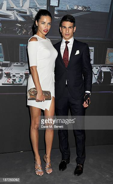 Model Adriana Lima and bullfighter Jose Maria Manzanares attend the IWC Top Gun Gala Event at 22nd SIHH High Jewellery Fair on at the Palexpo...