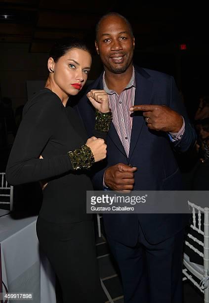 Model Adriana Lima and former boxer Lennox Lewis attend IWC Schaffhausen celebrates ''Timeless Portofino'' Gala Event during Art Basel Miami Beach to...
