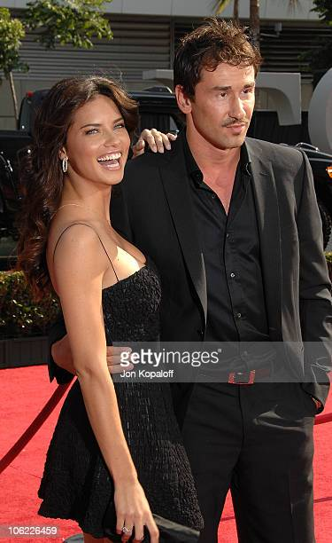 Model Adriana Lima and NBA basketball player Marko Jaric arrive at the 2008 ESPY Awards held at NOKIA Theatre LA LIVE on July 16 2008 in Los Angeles...