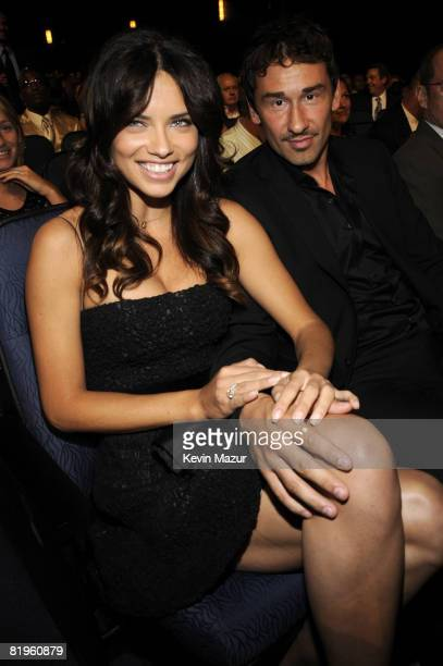 LOS ANGELES CA JULY 16 Model Adriana Lima and NBA basketball player Marko Jaric in the audience at the 2008 ESPY Awards held at NOKIA Theatre LA LIVE...