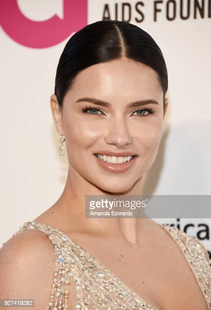 Model Adriana Lima arrives at the 26th Annual Elton John AIDS Foundation's Academy Awards Viewing Party on March 4 2018 in West Hollywood California