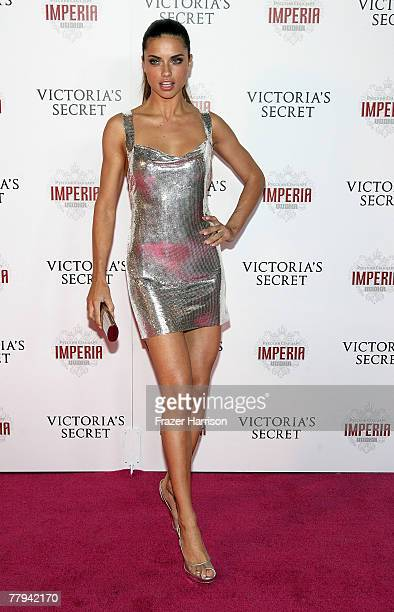 Model Adriana Lima arrives at Victoria's Secret Fashion Show after party held at the Kodak Theatre Grand Ballroom on November 15 2007 in Hollywood...