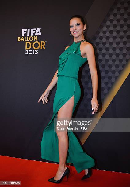 Model Adriana Lima arrives during the FIFA Ballon d'Or Gala 2013 at the Kongresshaus on January 13 2014 in Zurich Switzerland
