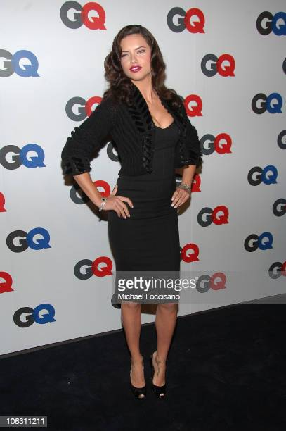 Model Adriana Lima arrives to GQ's 50th Anniversary Celebration at Cedar Lake in New York City on September 18 2007