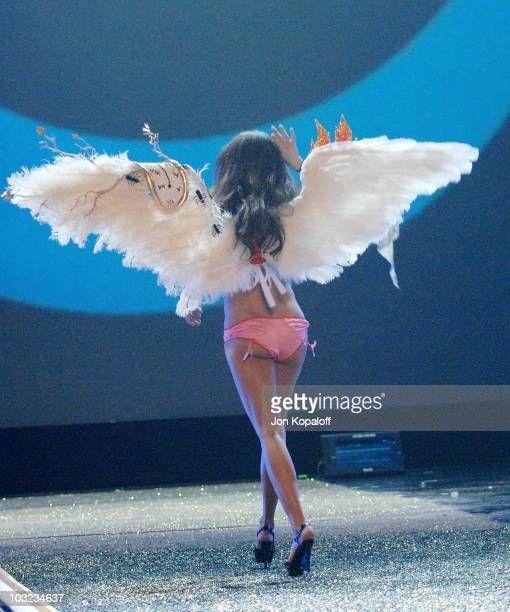 Model Adriana Lima at the 12th Annual Victoria's Secret Fashion Show on November 15 2007 at The Kodak Theatre in Hollywood California