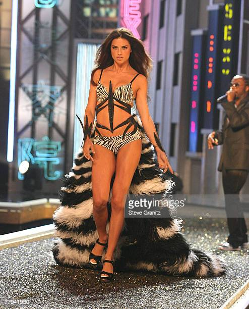 Model Adriana Lima at the 12th Annual Victorias Secret Fashion Show at The Kodak Theatre on November 15 2007 in Hollywood California