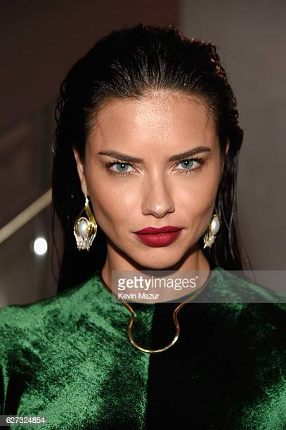 Model Adriana Lima attends An Evening of Music Art Mischief and Performance to benefit Raising Malawi presented by Madonna at Faena Forum on December...
