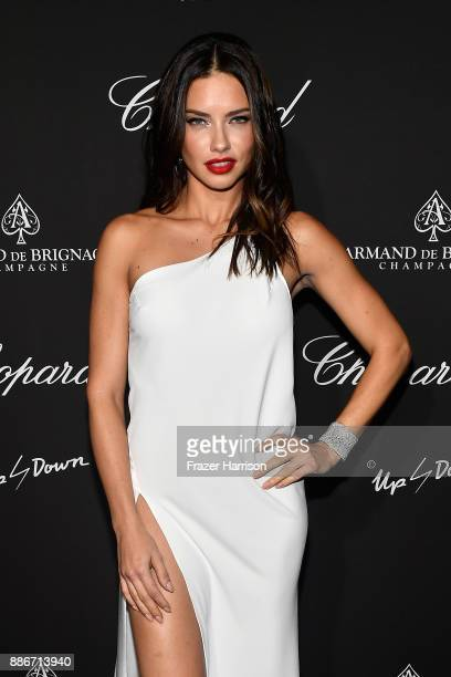 Model Adriana Lima attends Creatures Of The Night LateNight Soiree Hosted By Chopard And Champagne Armand De Brignac at The Setai Miami Beach on...