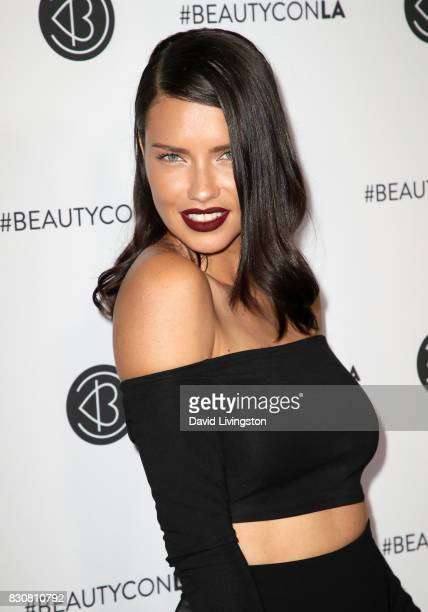Model Adriana Lima attends Day 1 of the 5th Annual Beautycon Festival Los Angeles at the Los Angeles Convention Center on August 12 2017 in Los...