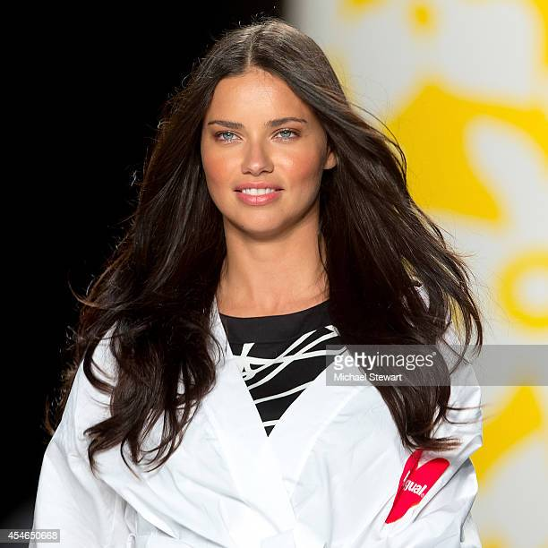 Model Adriana Lima attends Desigual during MercedesBenz Fashion Week Spring 2015 at The Theatre at Lincoln Center on September 4 2014 in New York City